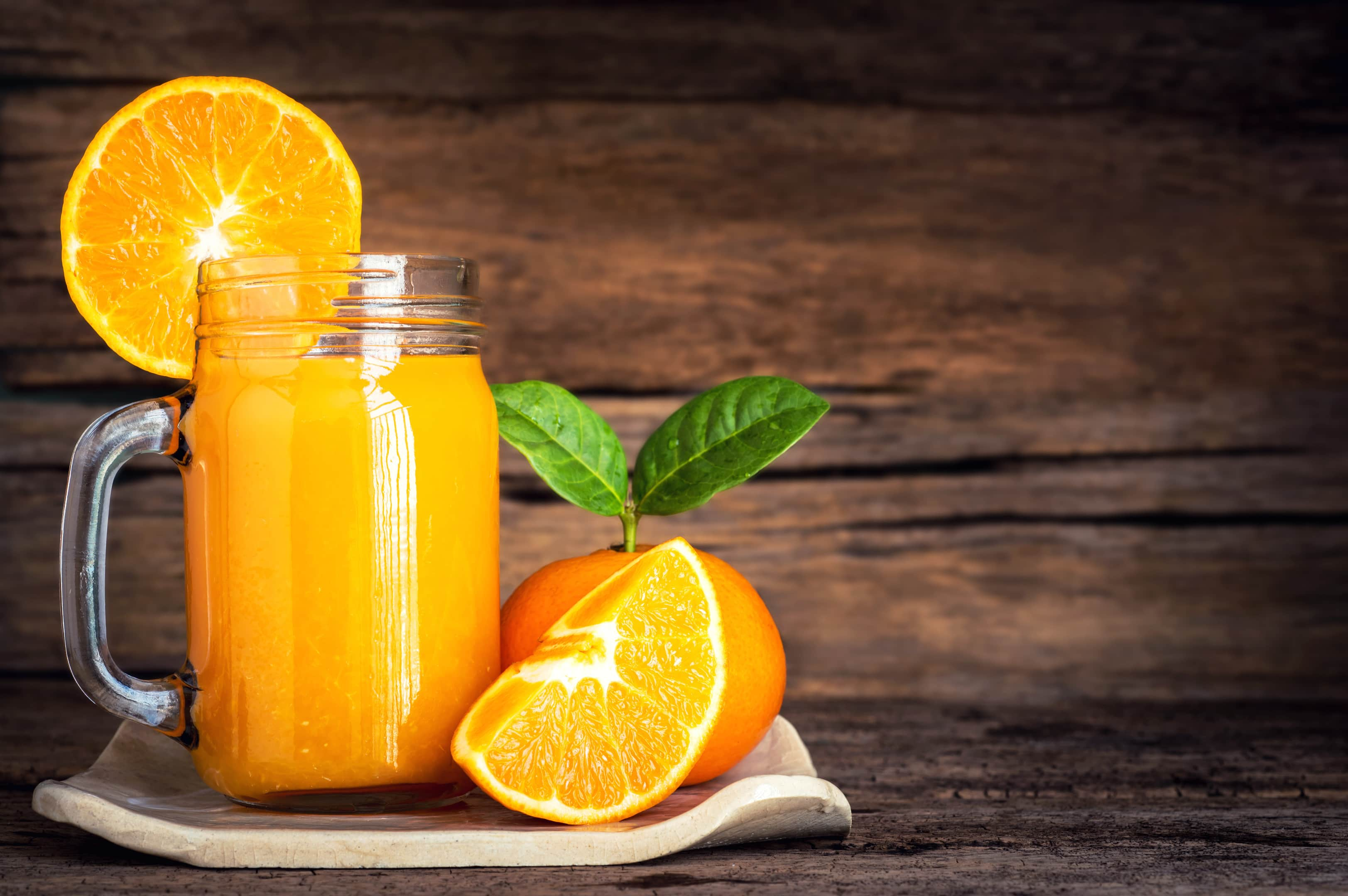 Orange Juice with Fresh Orange