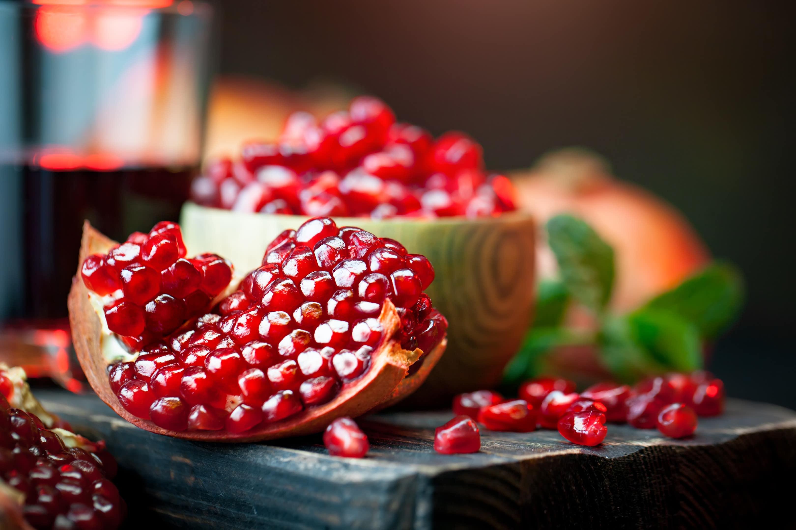 Opened Ripe Pomegranate