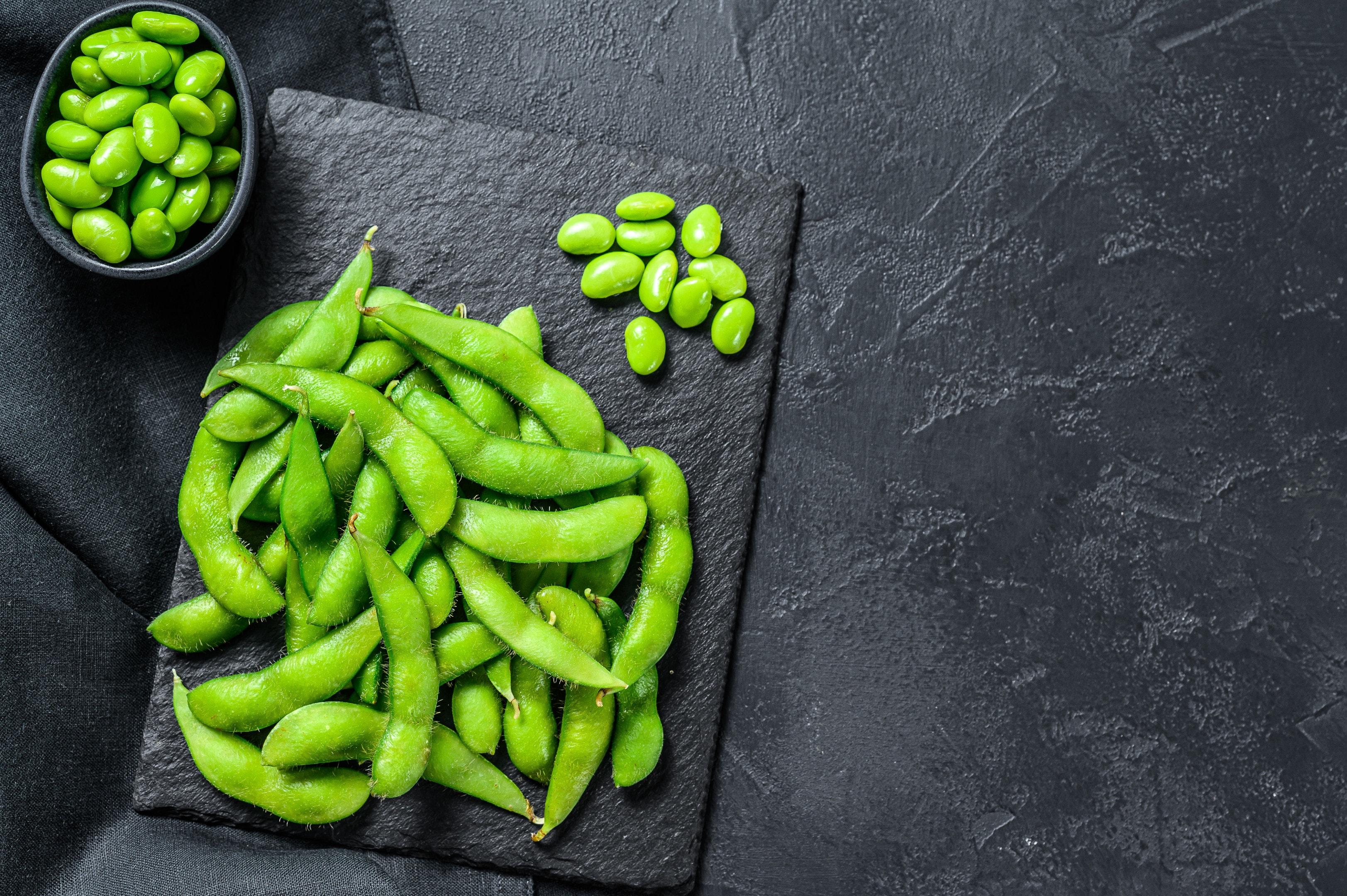 Green soy beans edamame