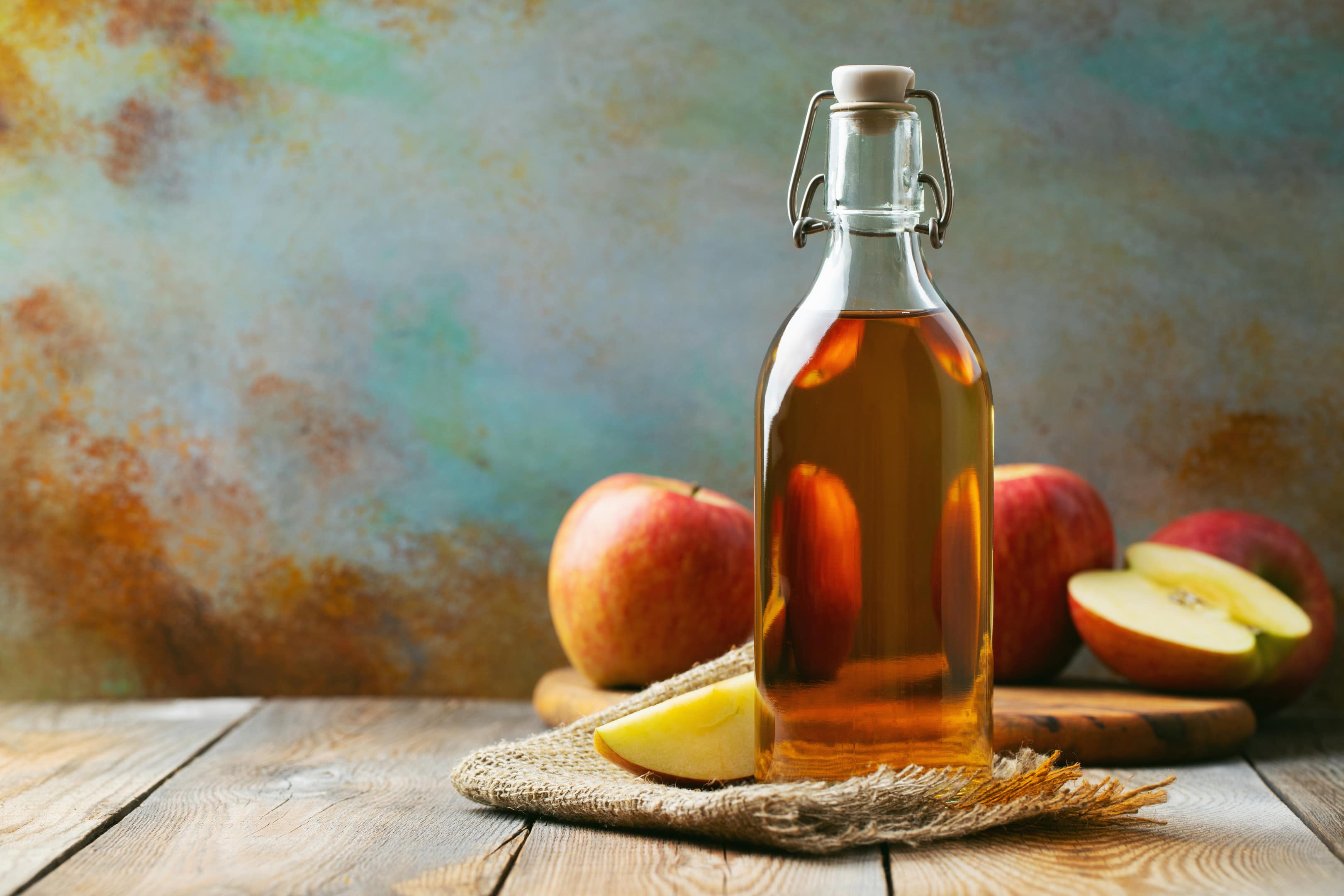 Bottle of apple cider vinegar organic