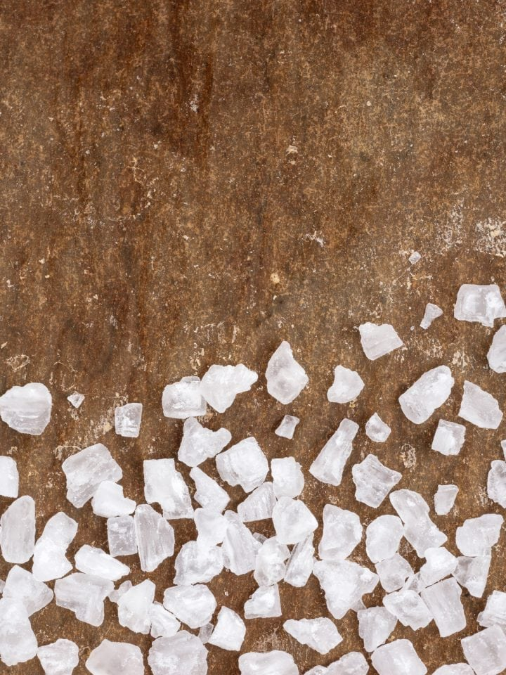 Calcium chloride salt closeup