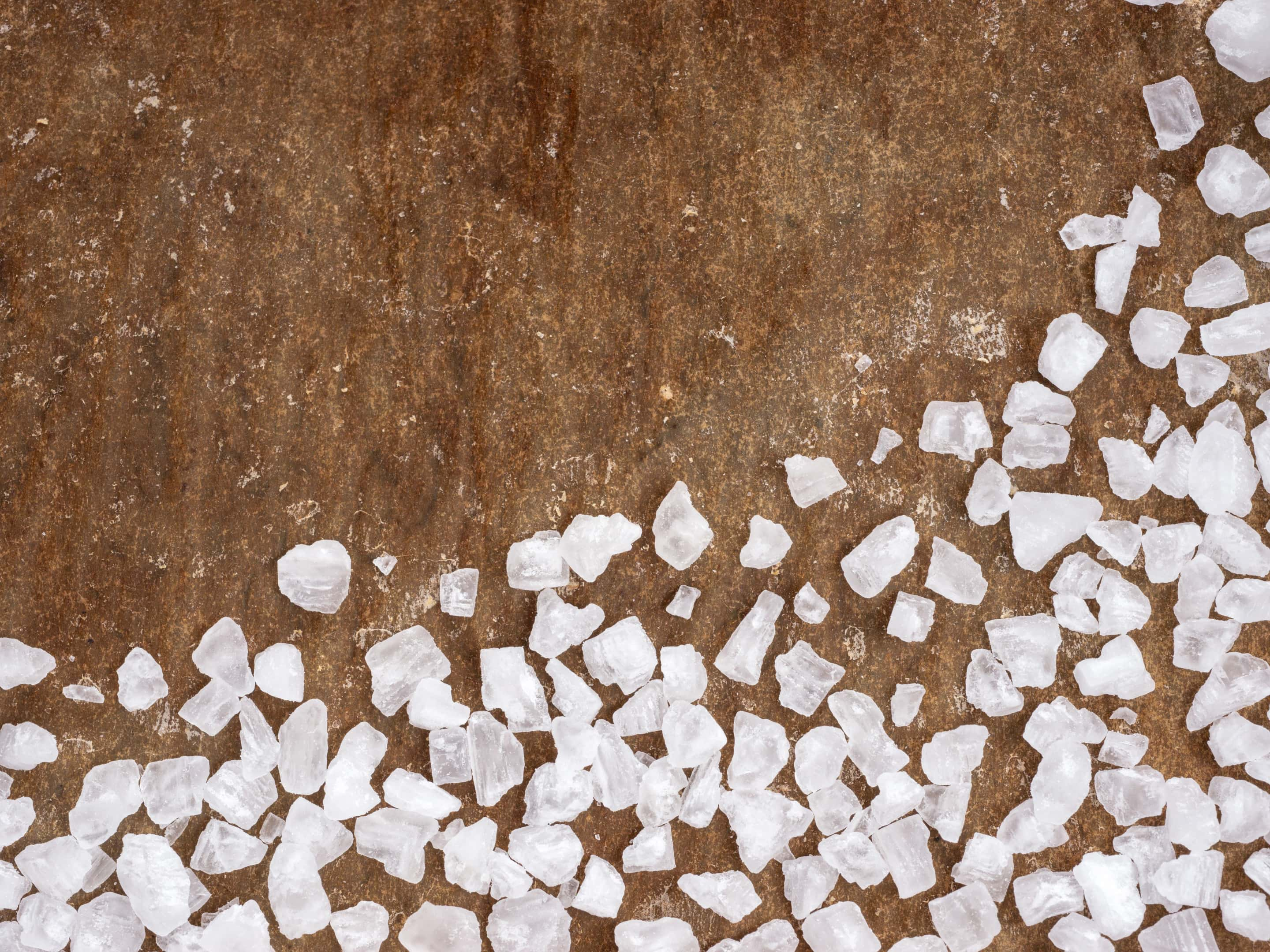 Calcium chloride salt closeup