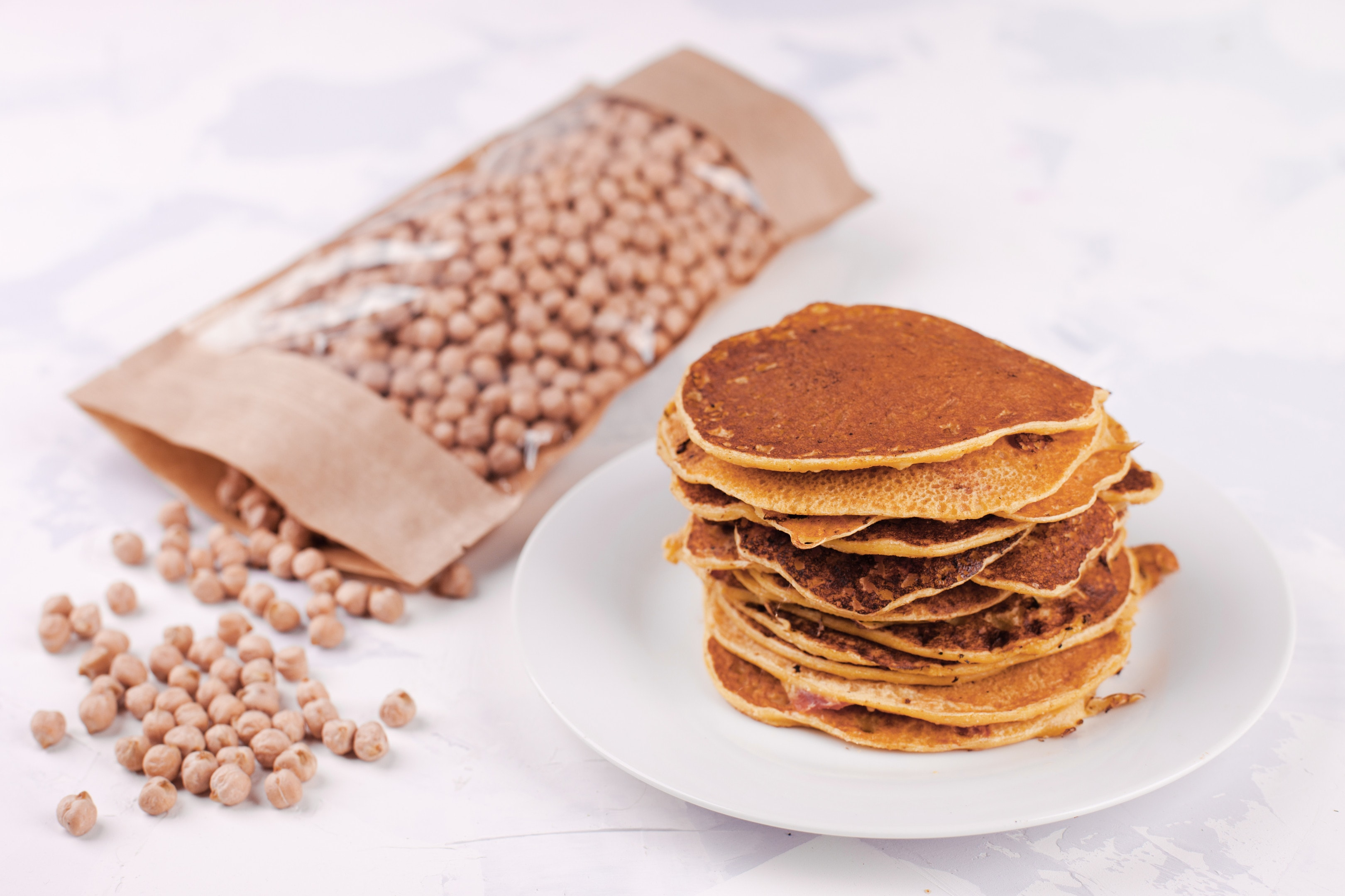 Chickpea flour pancakes fritters vegetarian