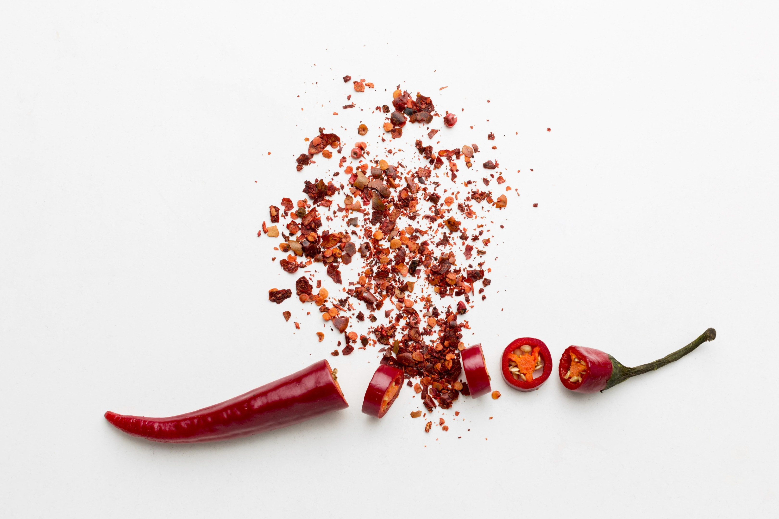Chilli pepper flakes with fresh pepper