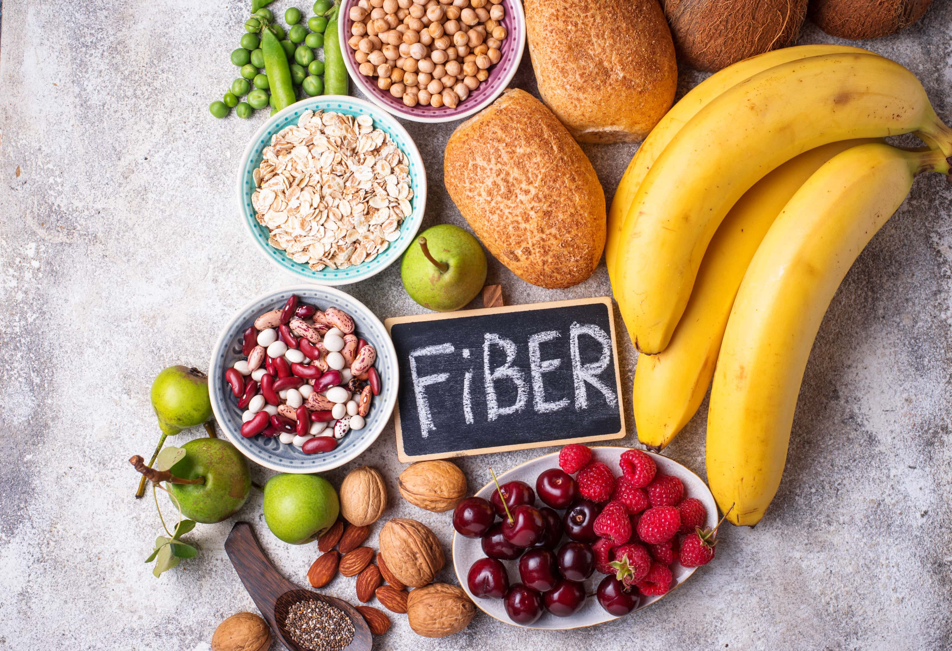 Fiber rich food products