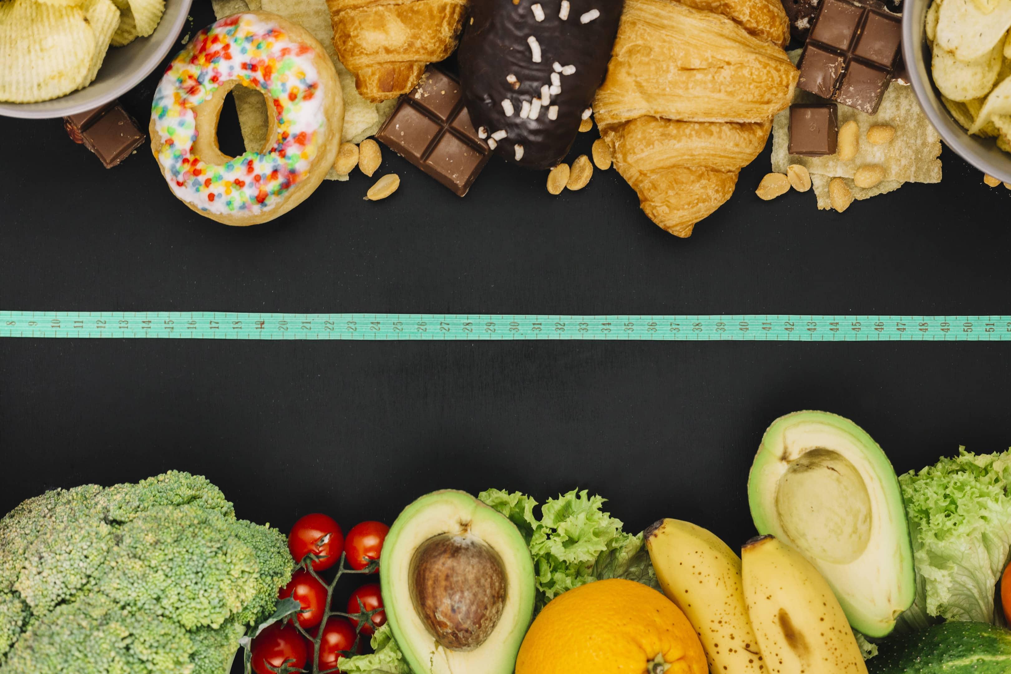 Low fat food vs high fat food