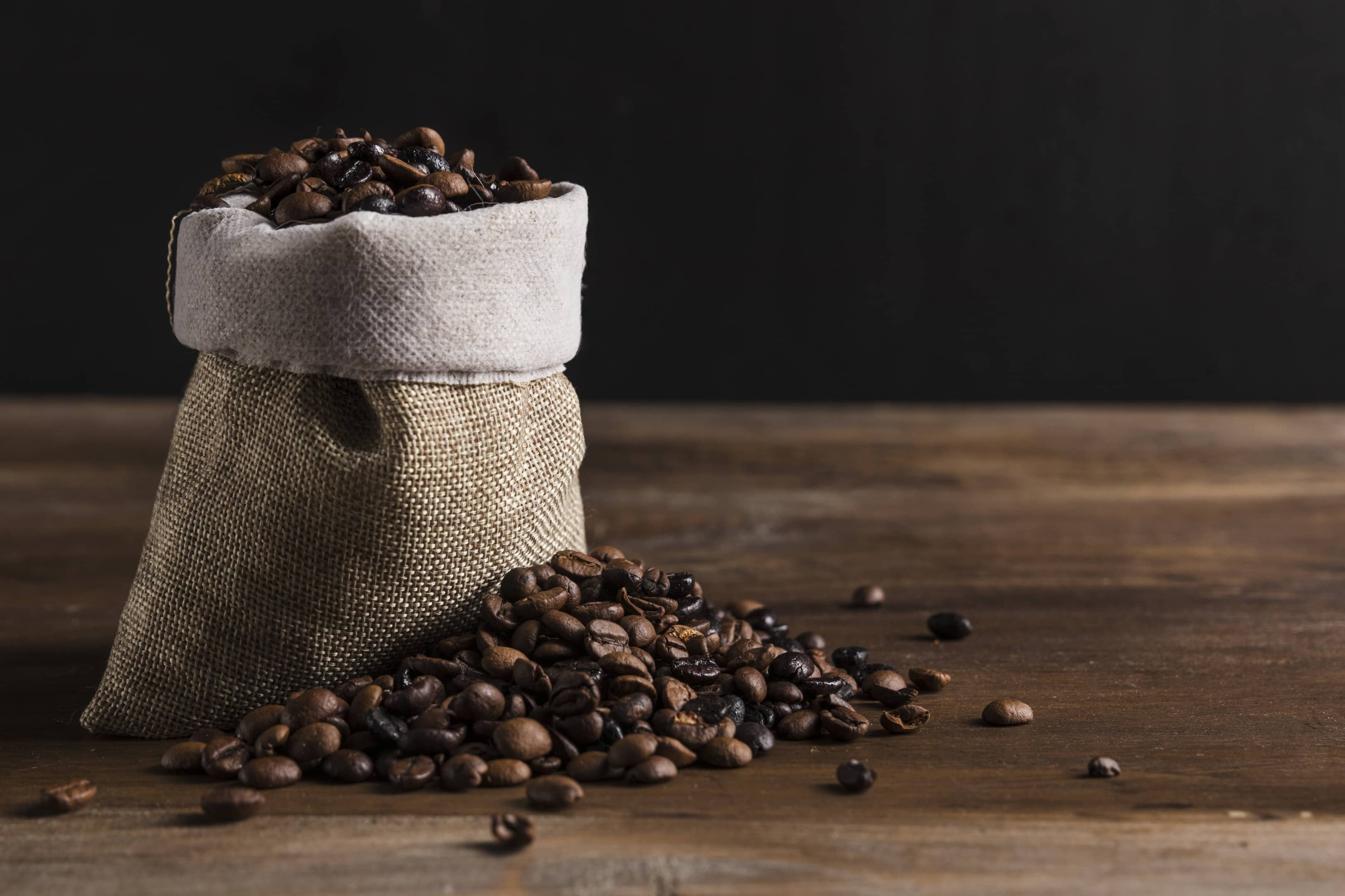Pouch with coffee beans