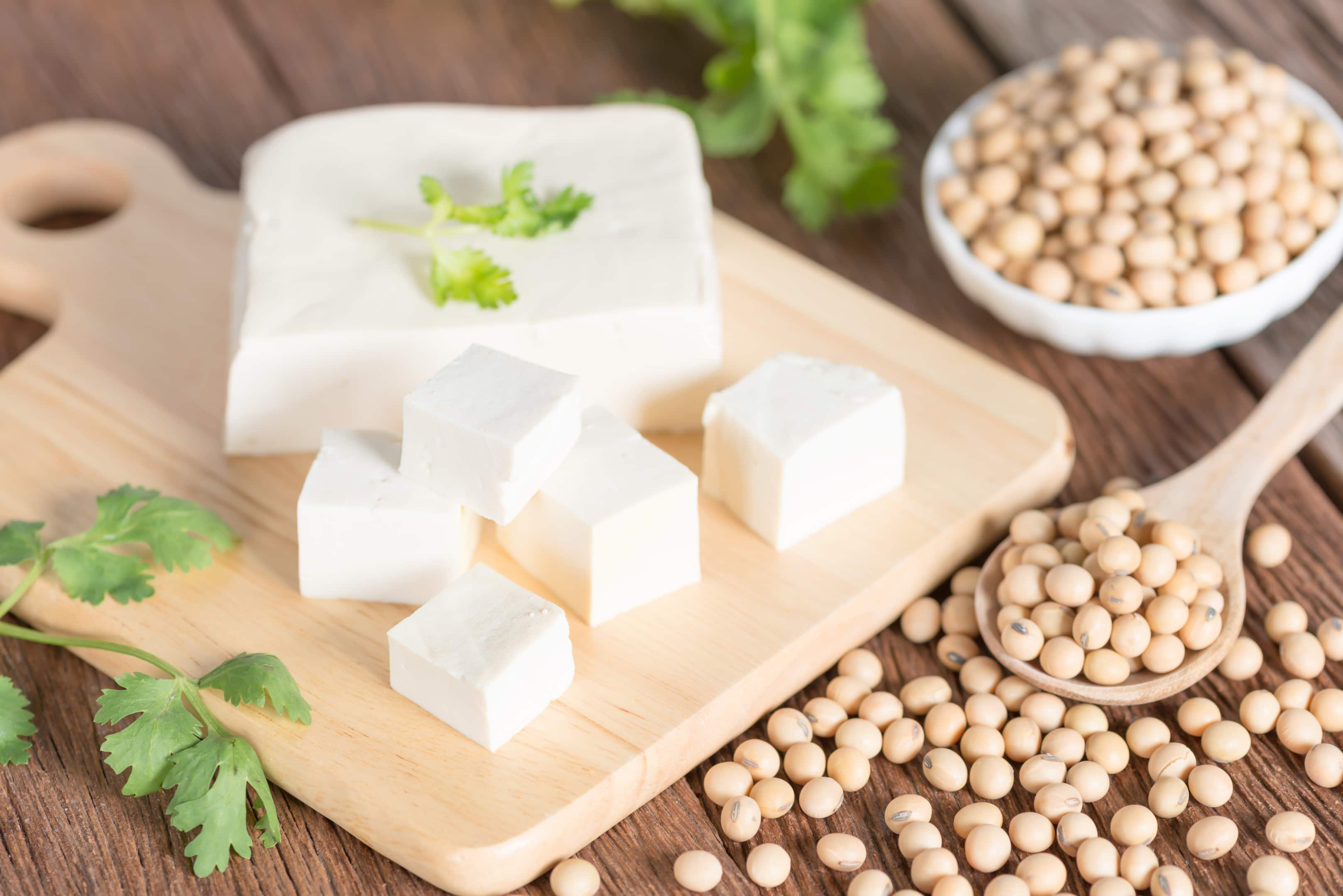 Tofu with soy beans