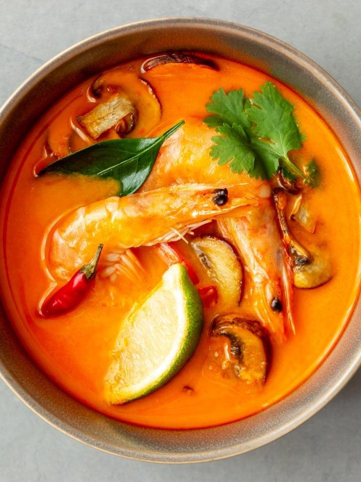Tom yum soup. Thai cuisine.