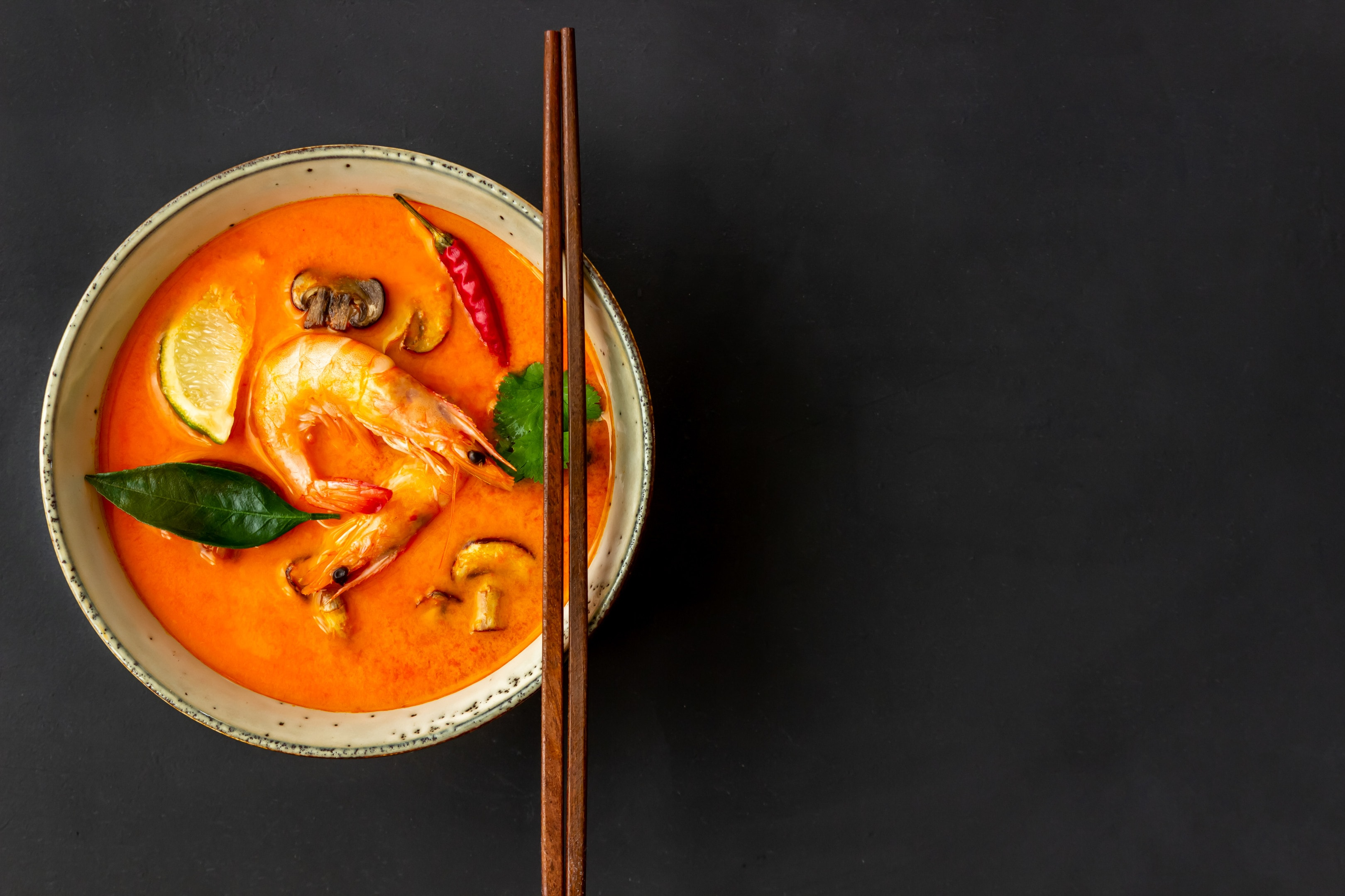 Tom yum goong Tom yum soup. Thai cuisine.