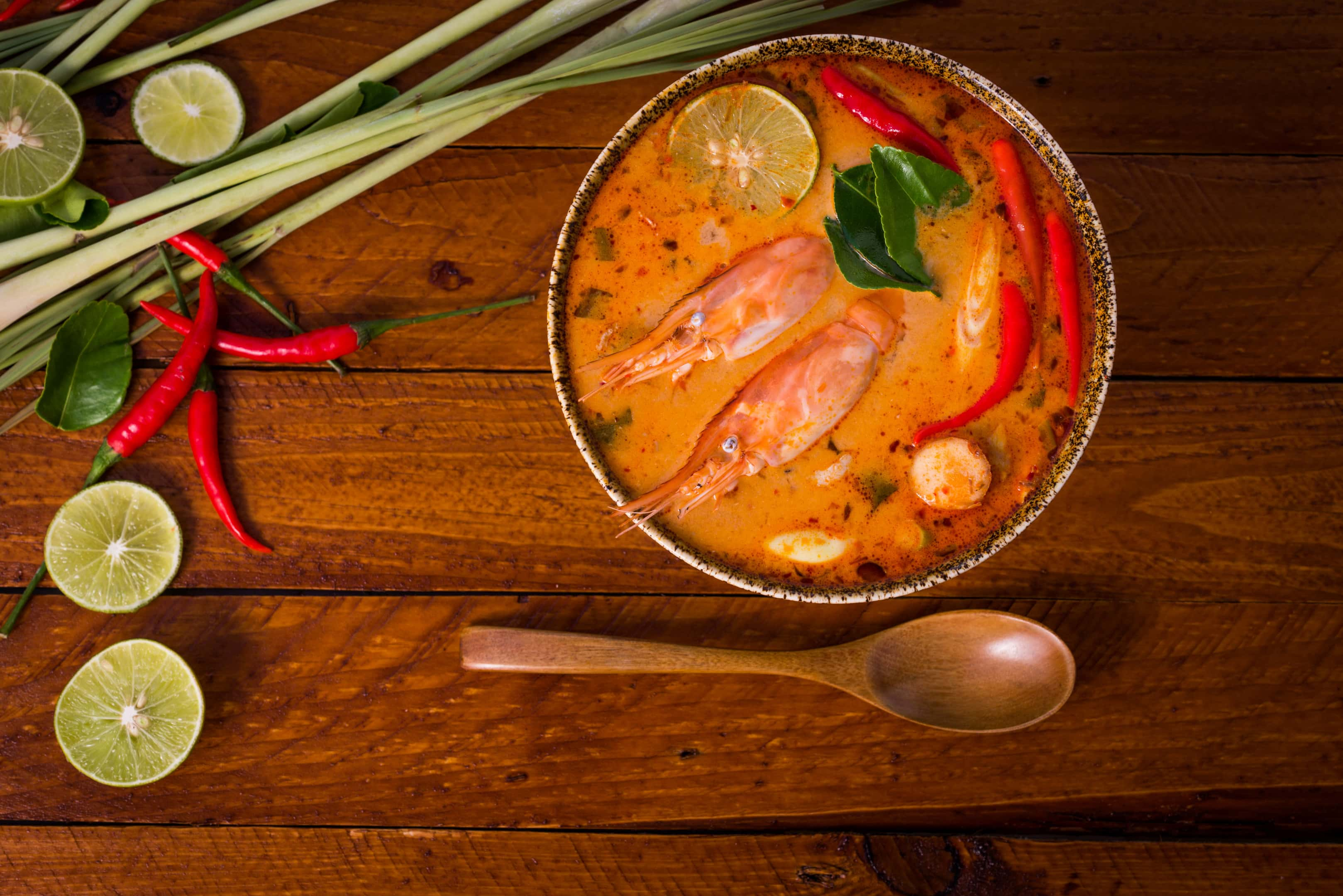 Tom yum goong thai traditional food