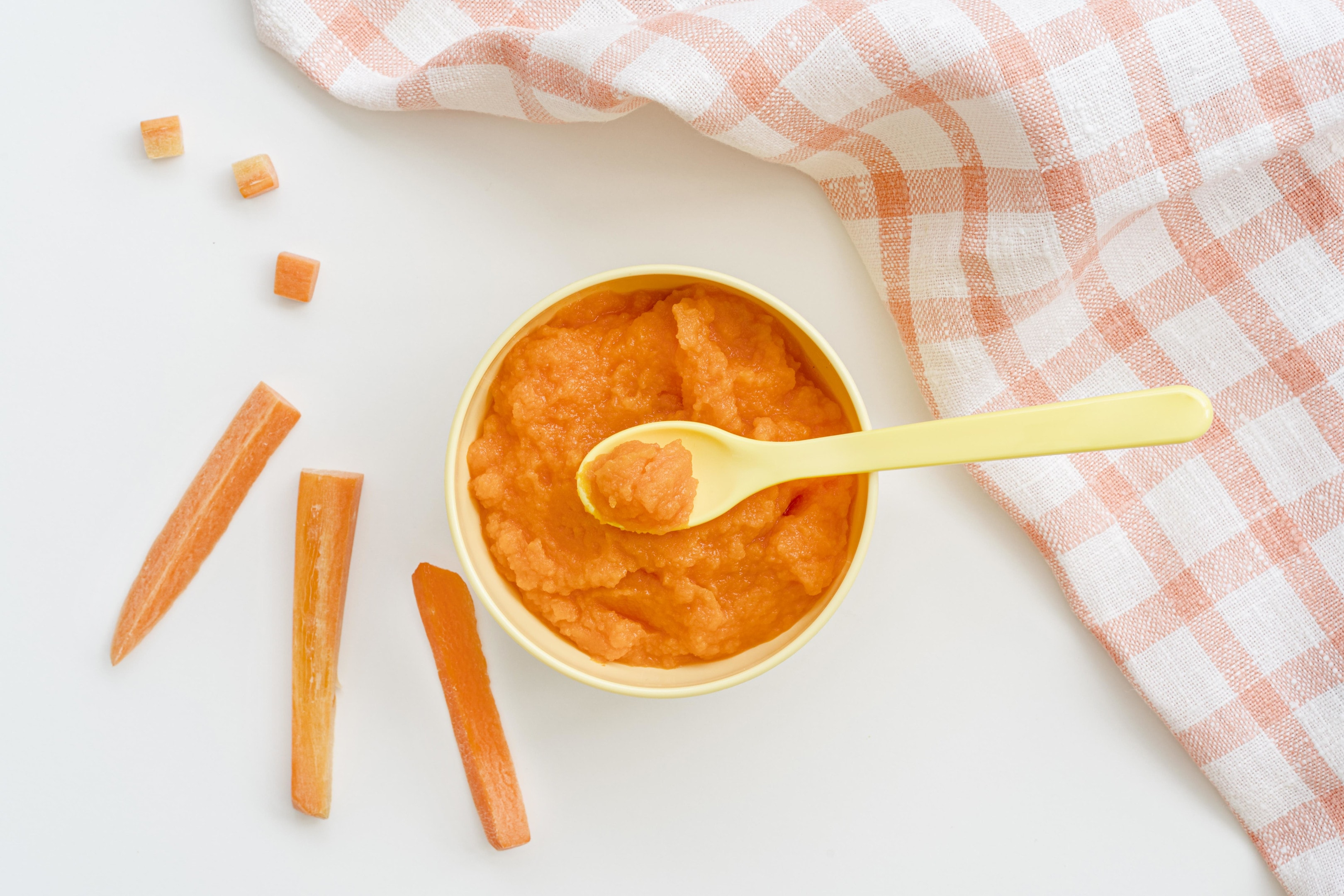 Bowl with carrot puree