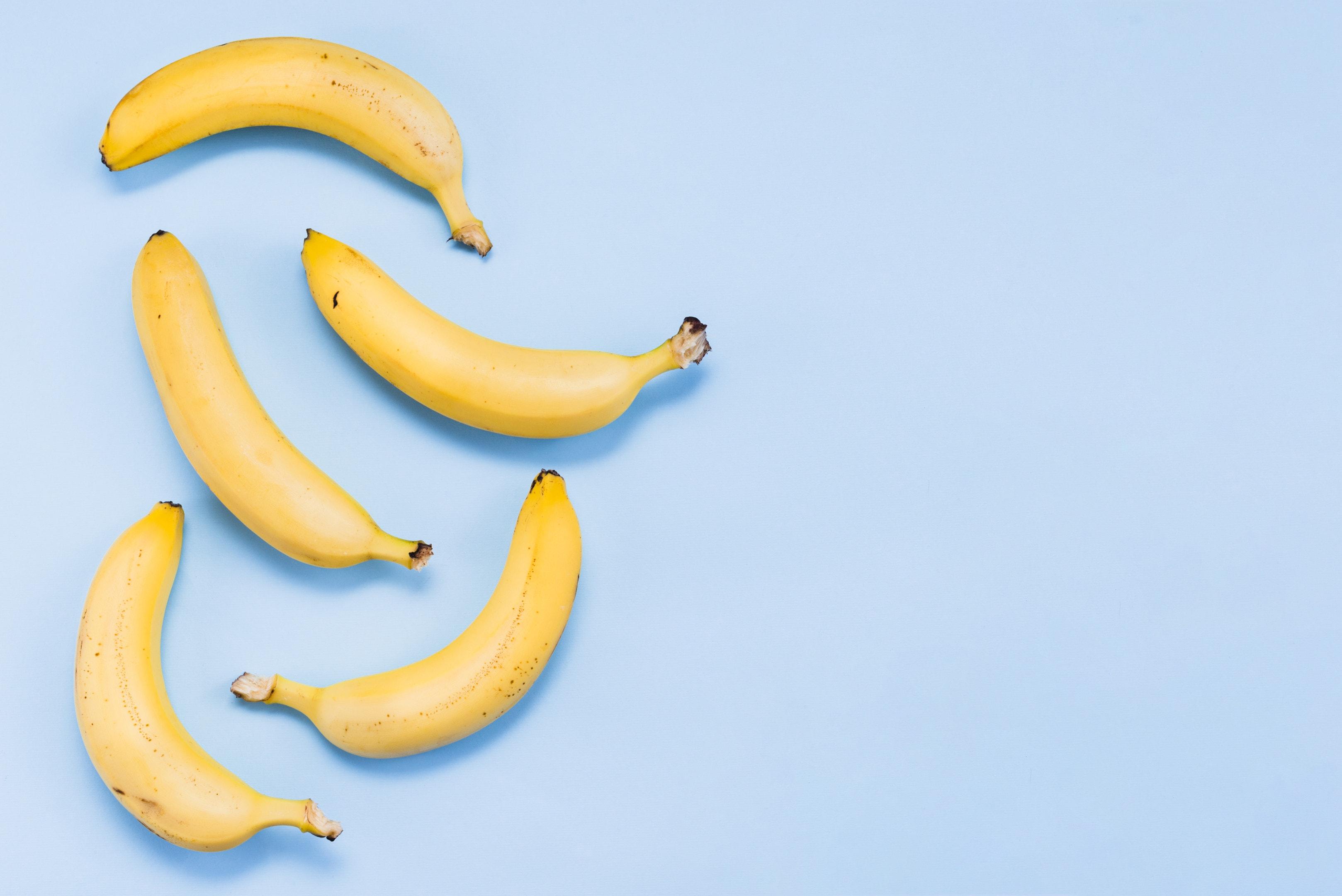 Bananas on blue background