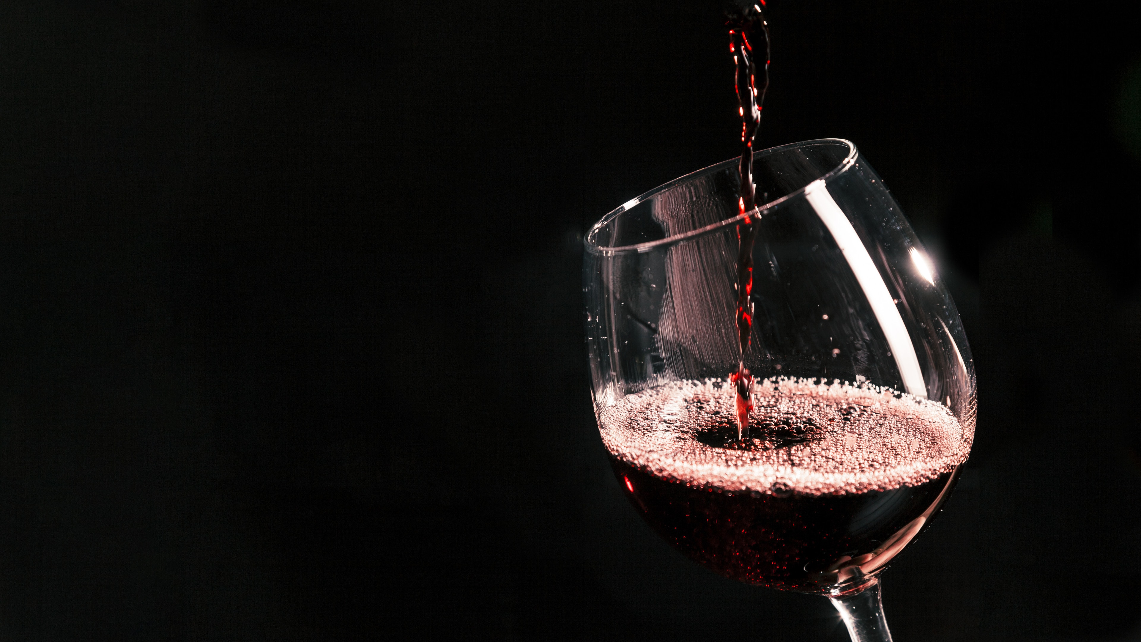 Red Wine Is Filling a Goblet