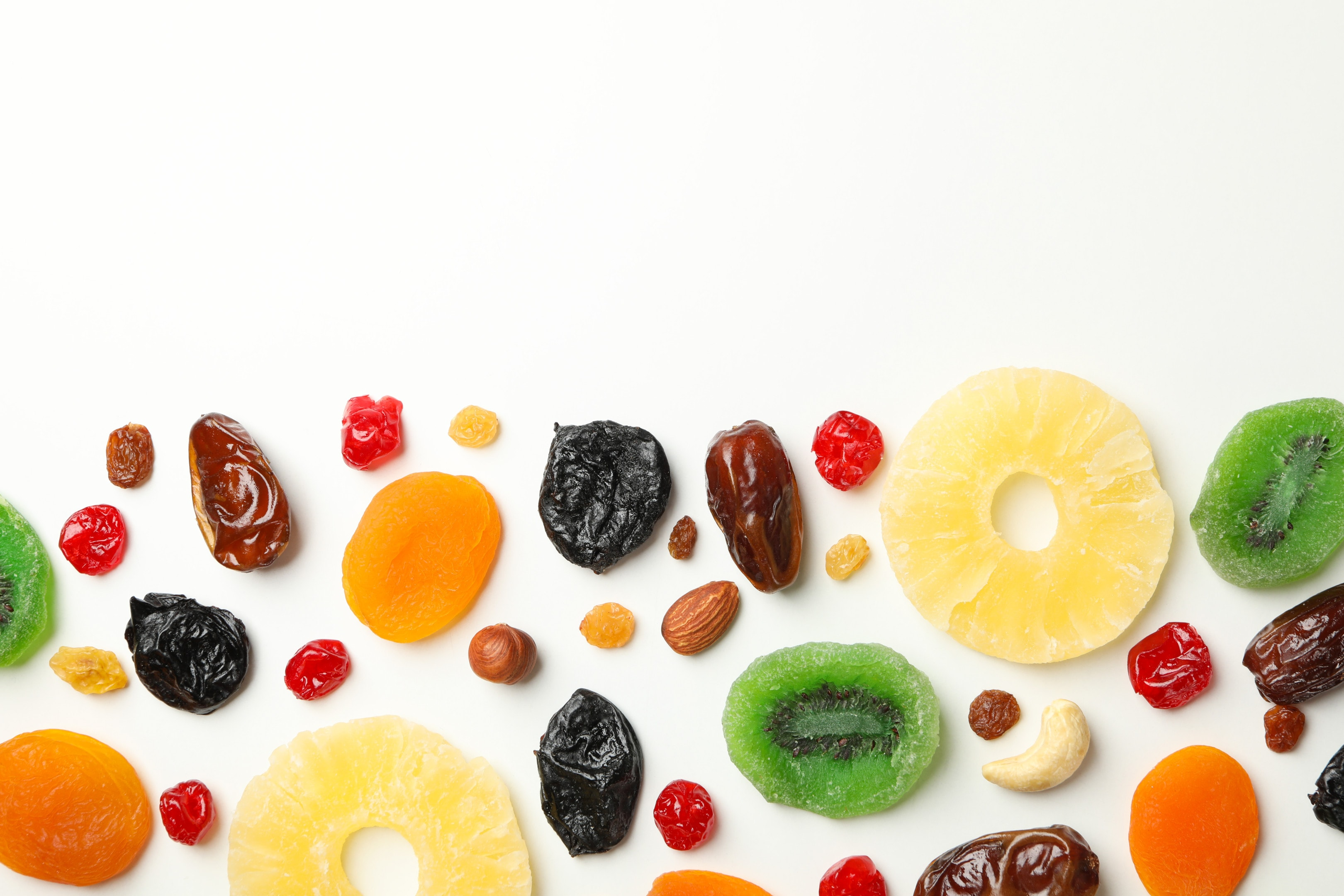 Tasty Dried Fruits on White Table