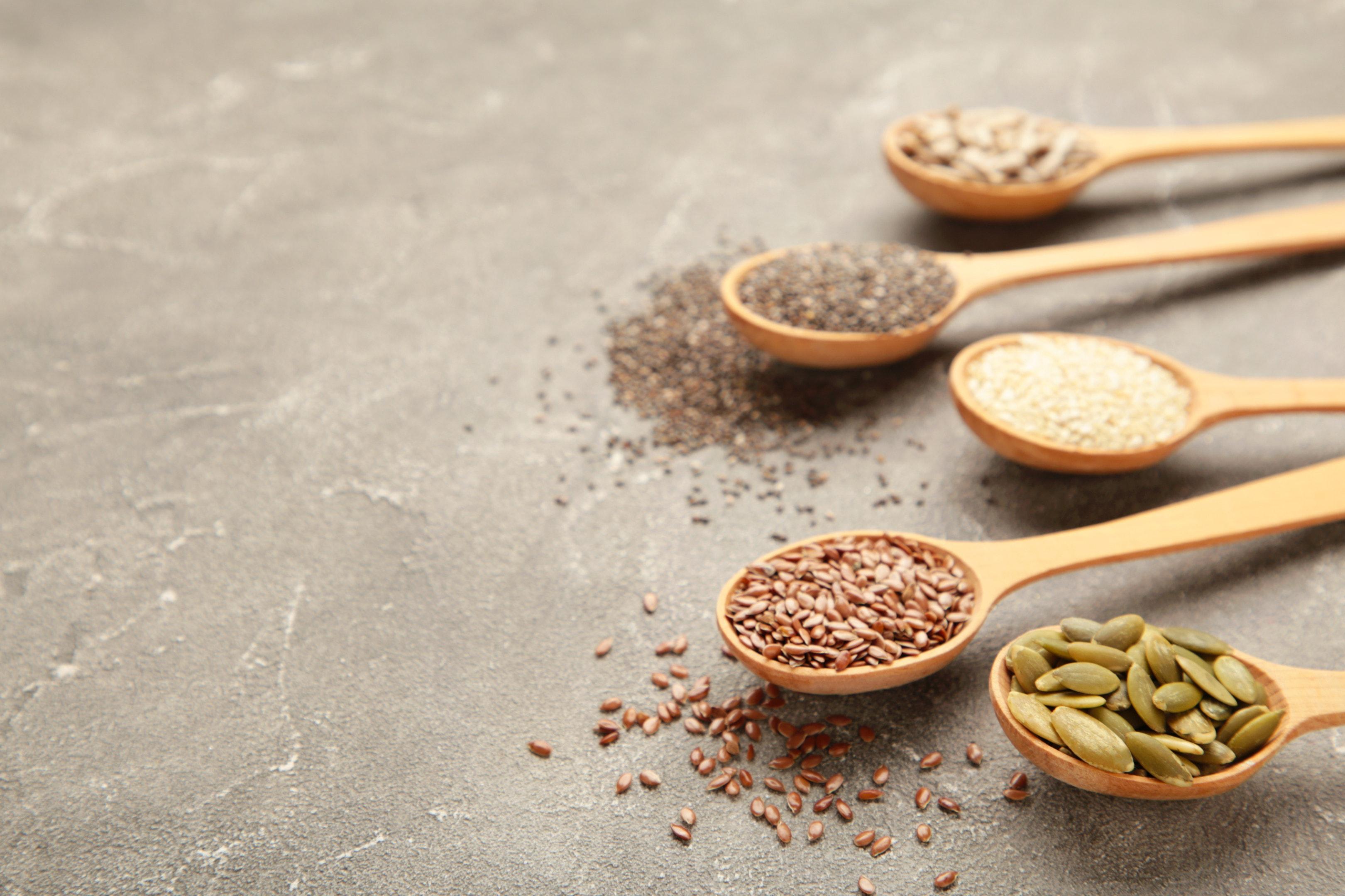 Sesame pumpkin seeds sunflower seeds flax seeds chia seeds