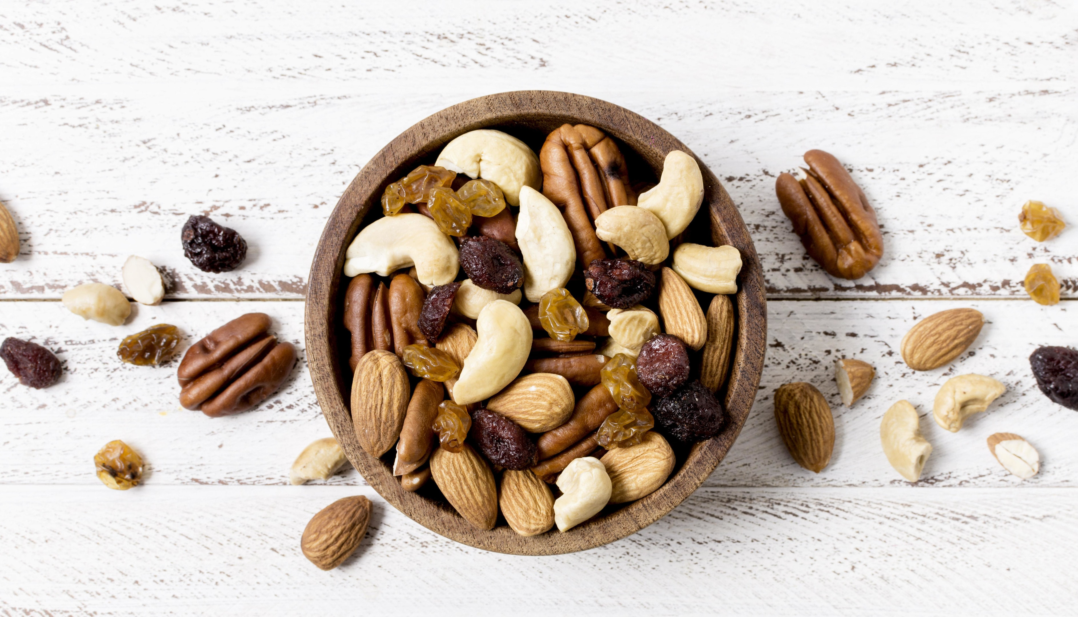 Bowl with assortment of nuts