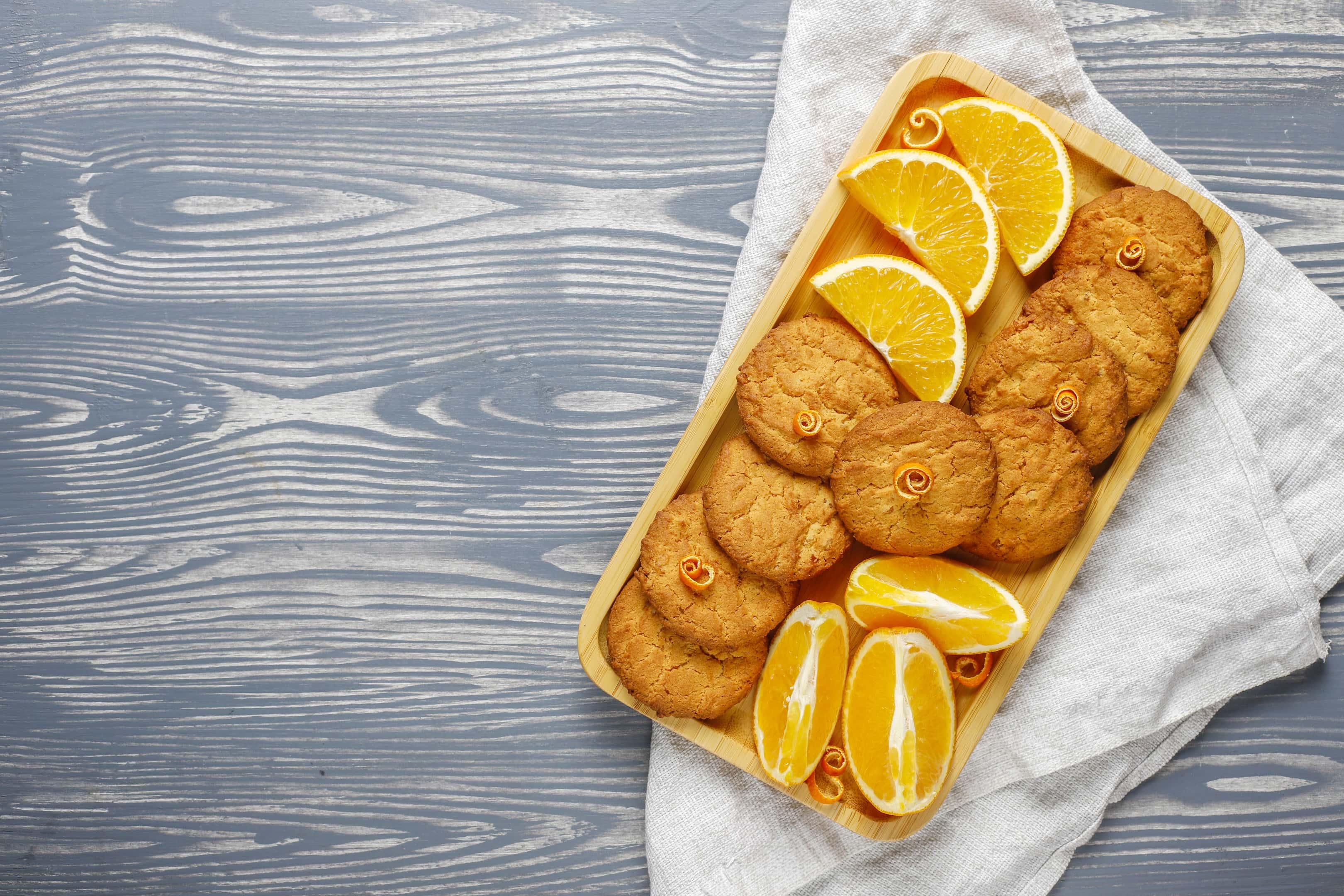 Cashew flour orange zest cookies