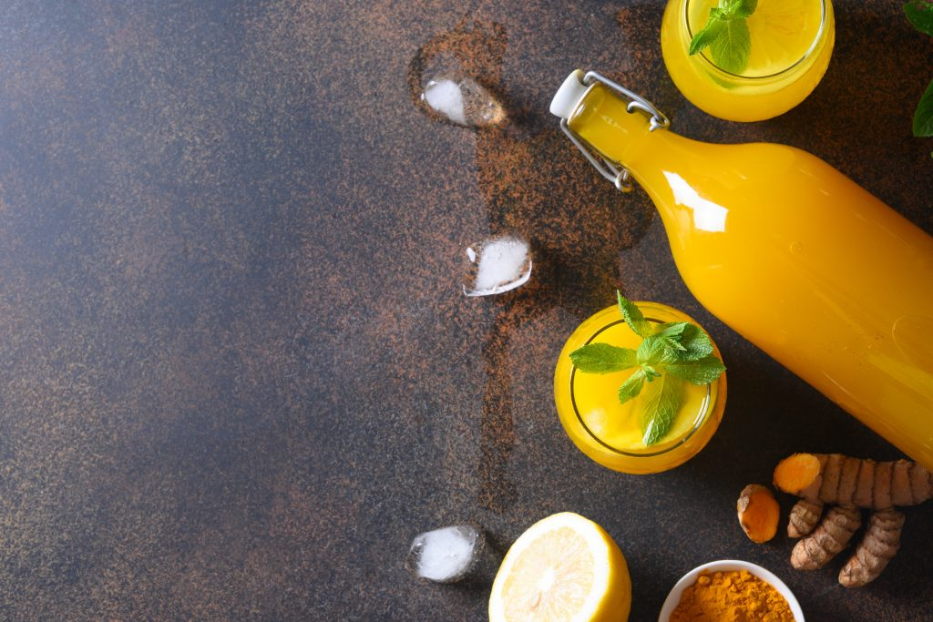 Jamu — Indonesian herbal beverage with turmeric ginger lemon and tamarind