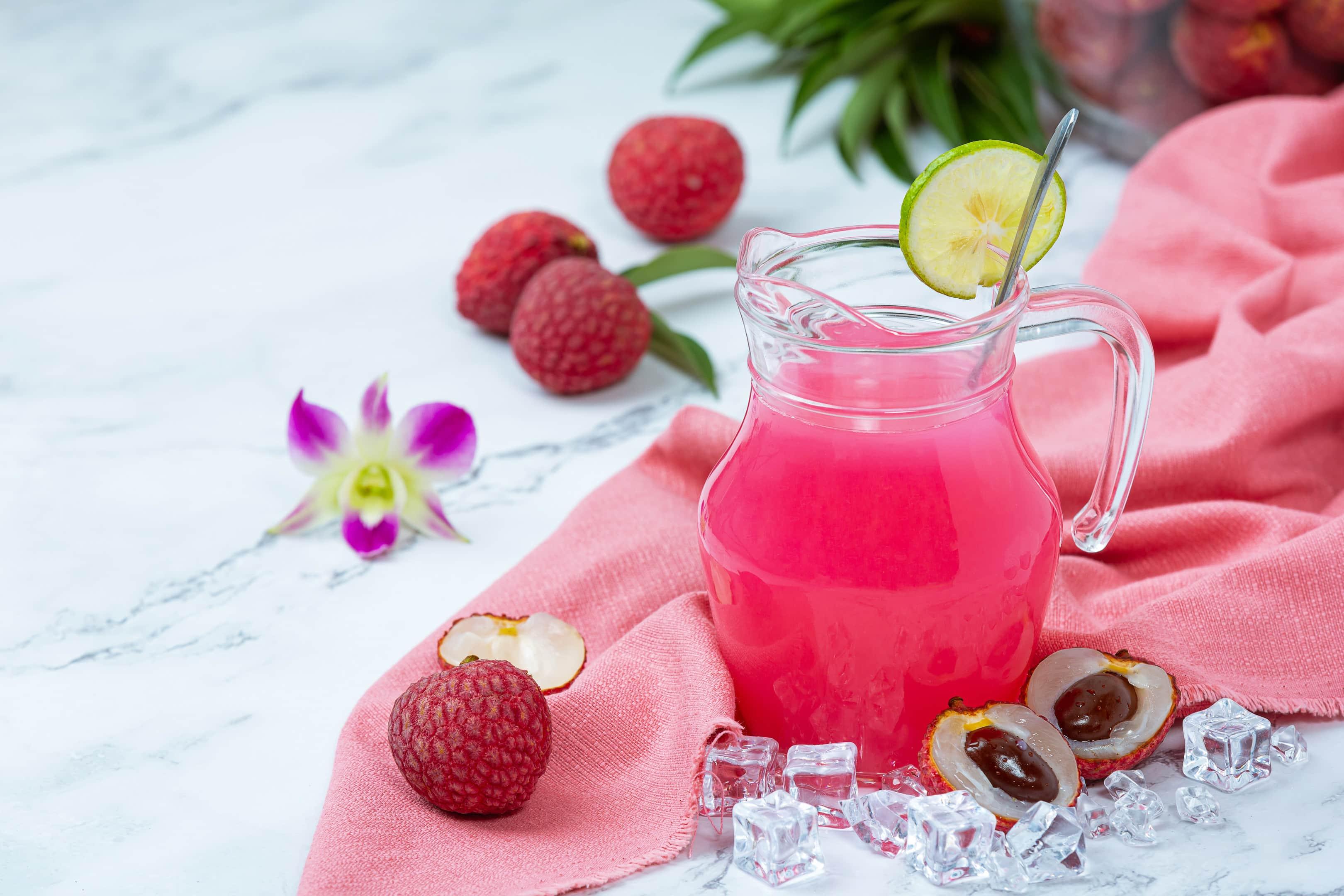 Lychee jelly Thai dessert