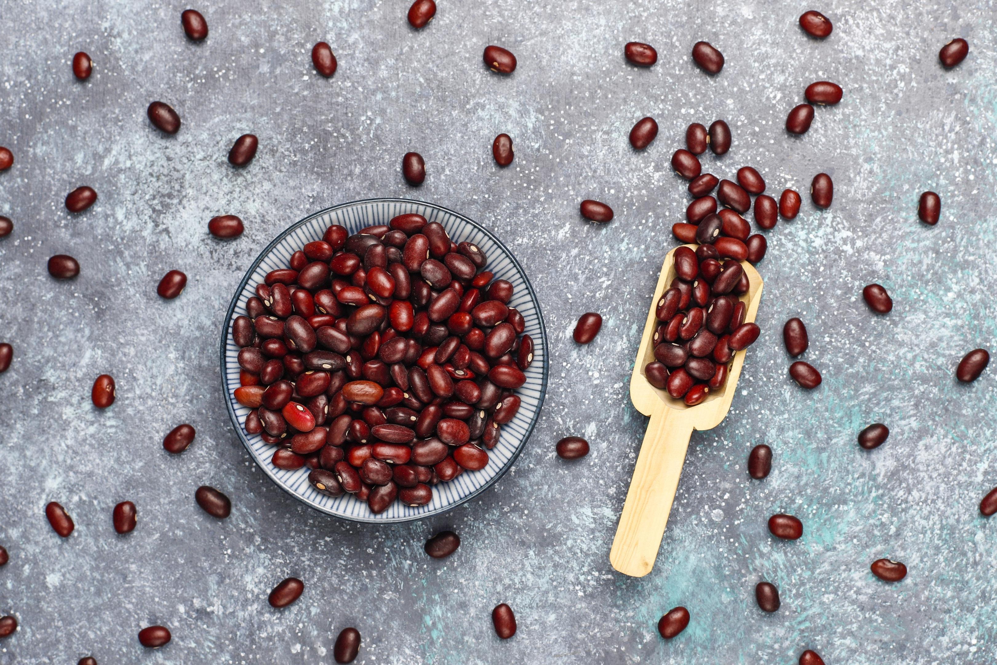 Adzuki beans assortment in a bowl