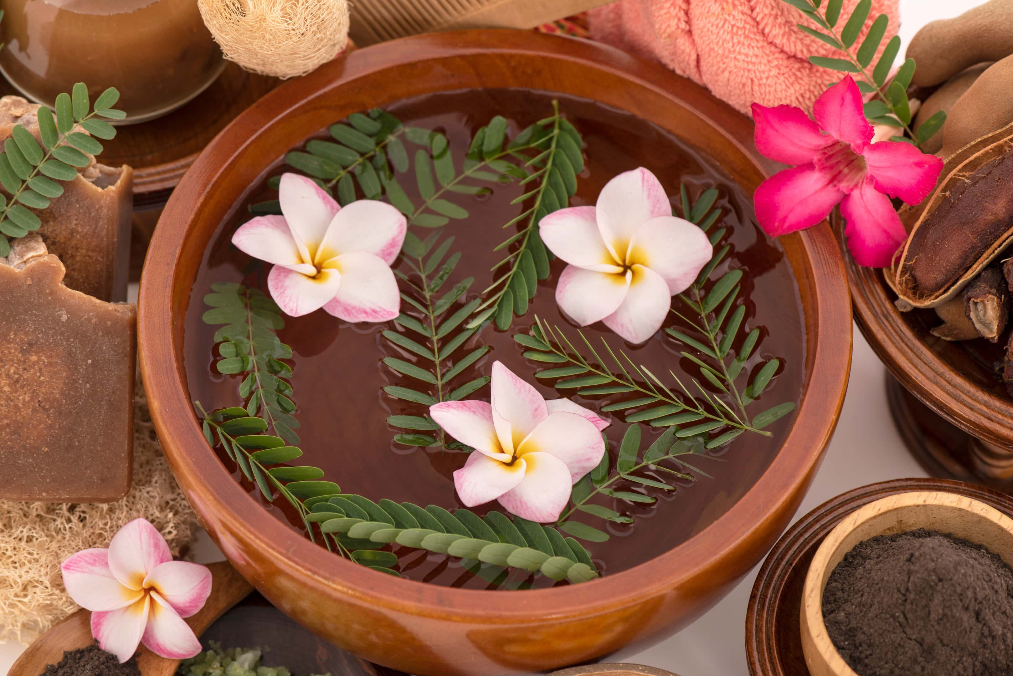 Nourish skin and hair bathe with boiled water and tamarind extract
