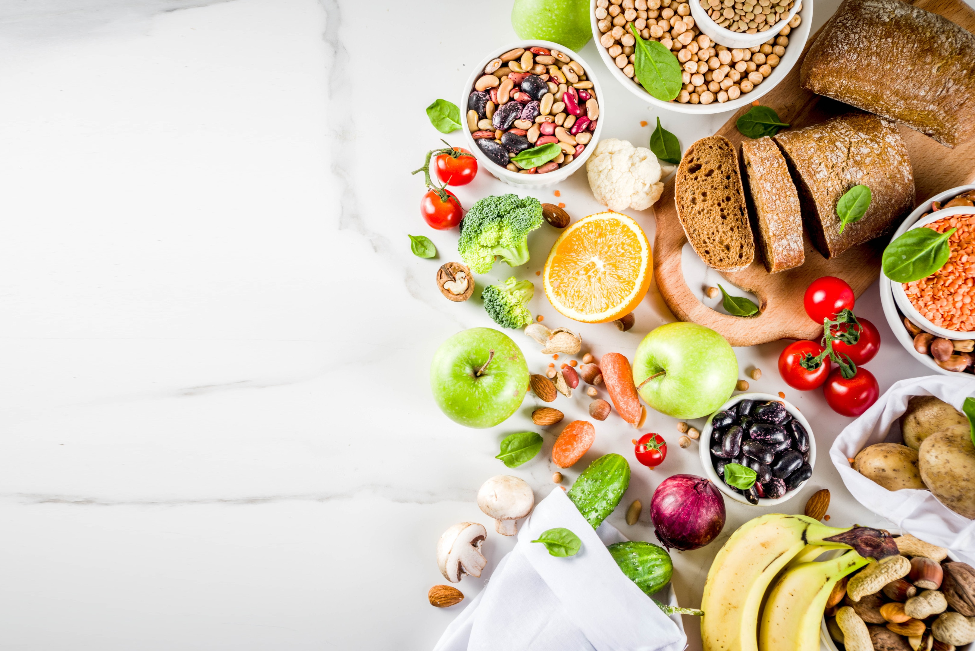Food with high content of fiber