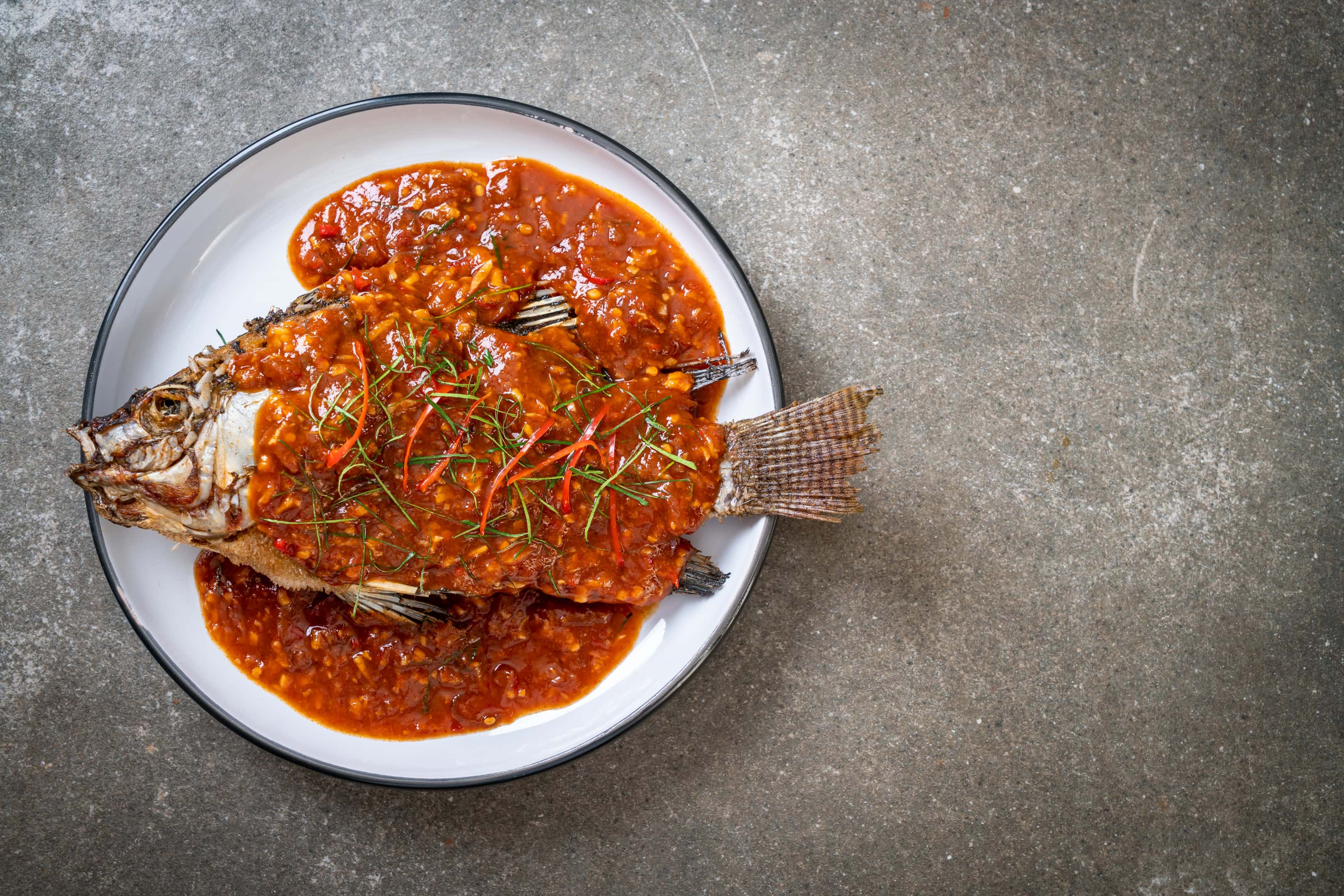 Fried fish with xo sauce