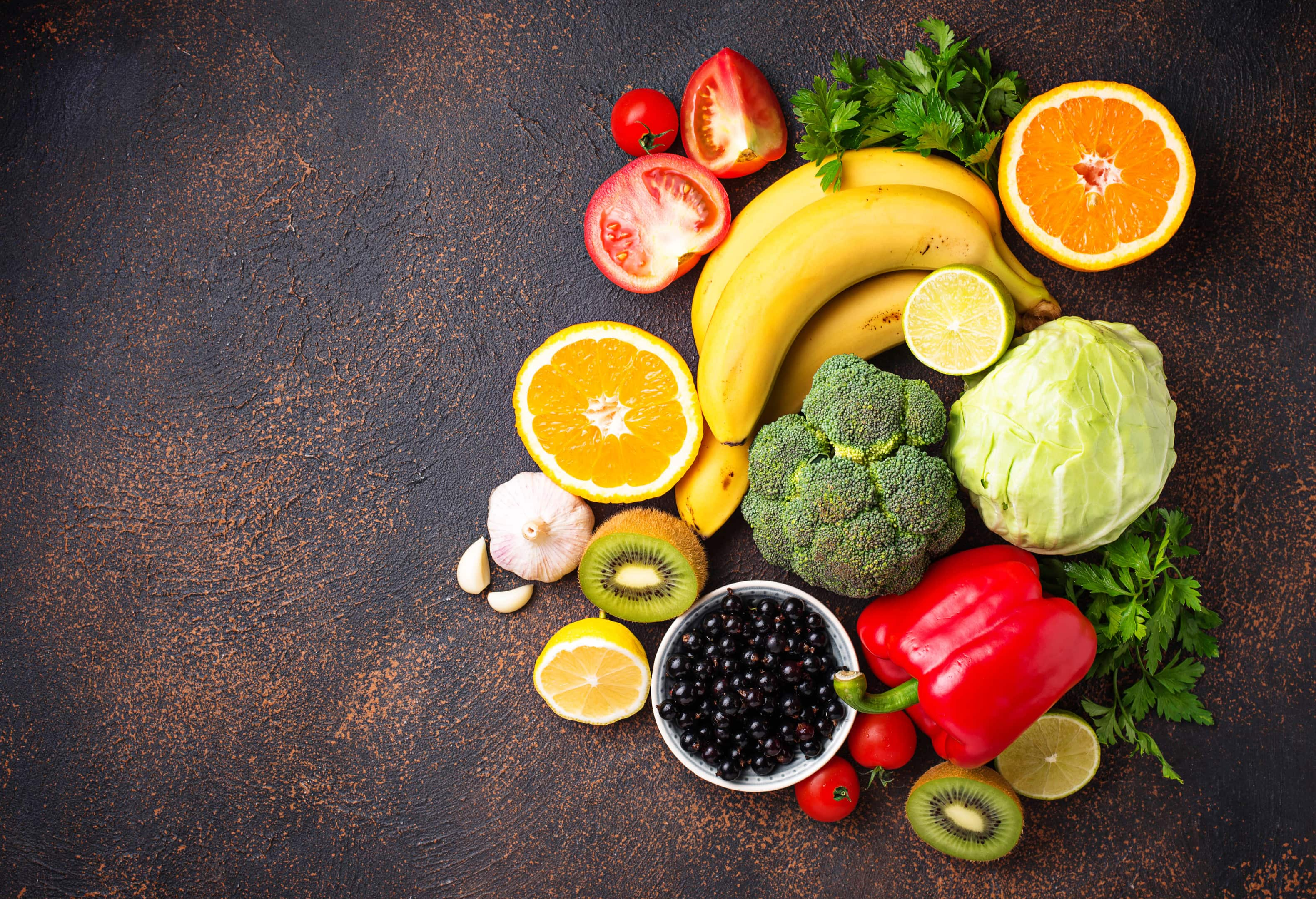 Healthy food containing vitamin C