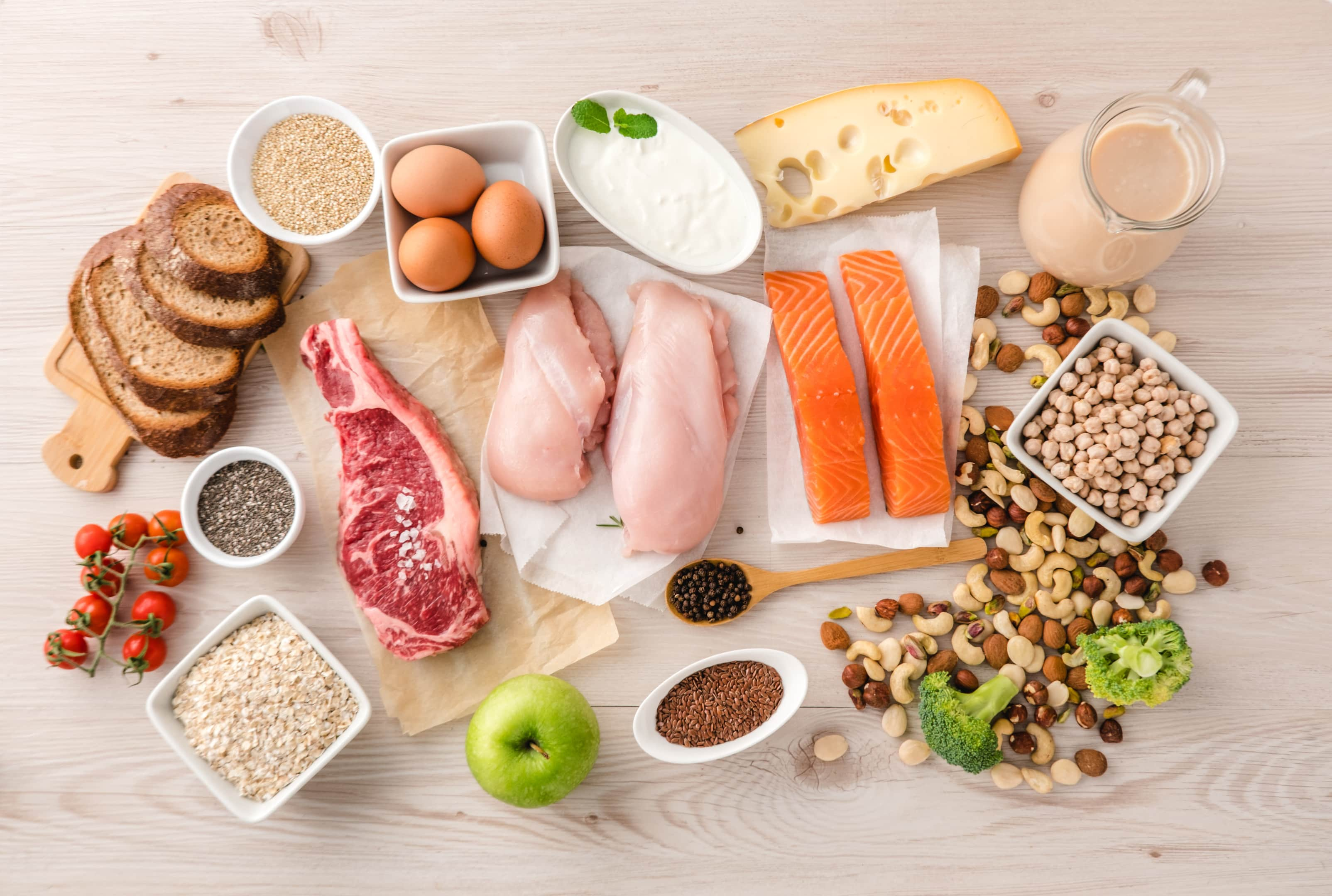 Healthy foods that are high in protein content