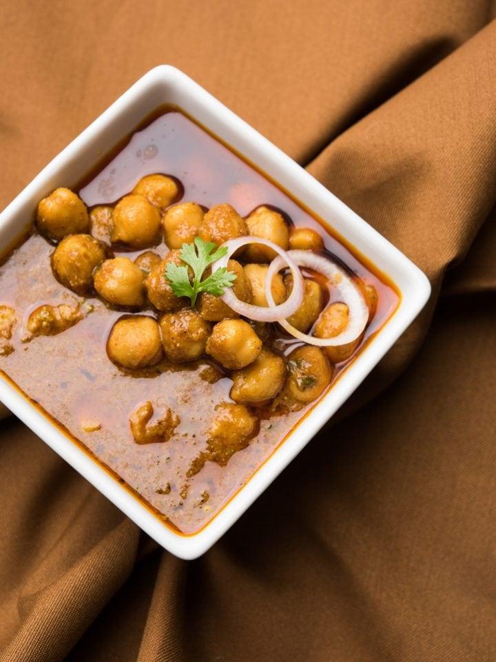 Kala Chana soup — traditional north Indian black chickpeas soup