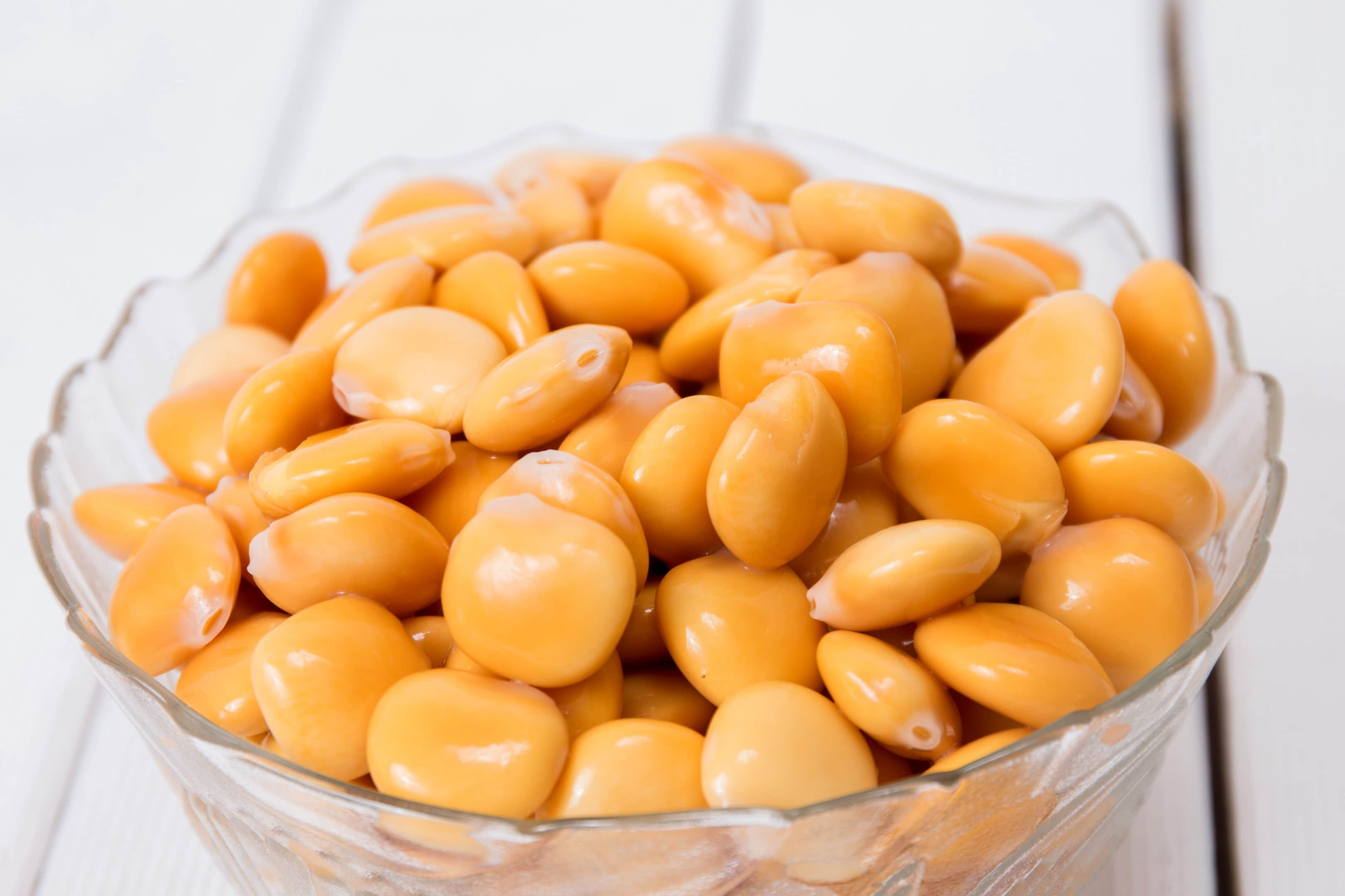 Bowl of lupini beans